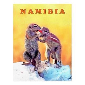 Sand squirrels, Namibia Postcard