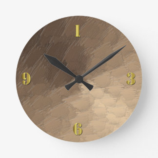 Sand Storm Round Wall Clock
