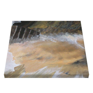 Sand Storms In The Cliff Dwellings Canvas Print