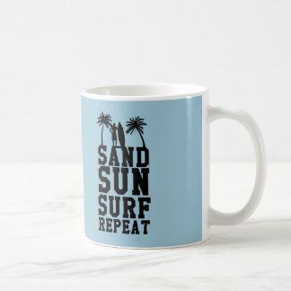 """Sand, sun, surf, repeat"" Mug"