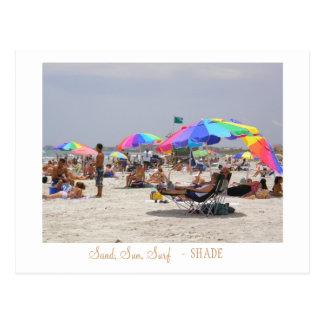 Sand, Sun, Surf,  -  SHADE Postcard