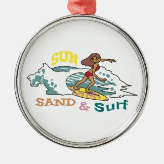 Sand & Surf Metal Ornament