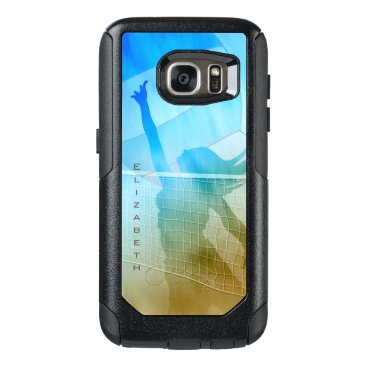 sand surf sky volleyball at the beach women's OtterBox samsung galaxy s7 case