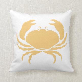 sand tan CRAB WHITE  pillow