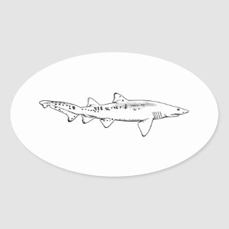 Sand Tiger Shark Oval Sticker