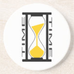 Sand timer drink coaster