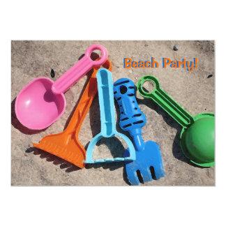 "Sand Toys Invitation 5"" X 7"" Invitation Card"