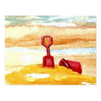 Sand Toys - Sand Castle Building on the Beach Postcard