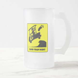 Sand trap DUDE-1 Frosted Glass Beer Mug