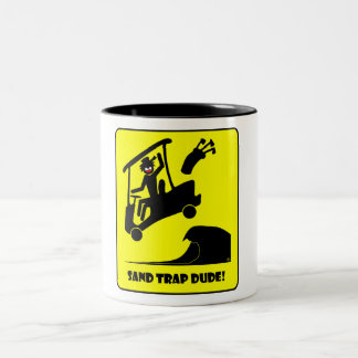 Sand trap DUDE-1 Two-Tone Coffee Mug