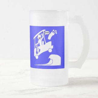 Sand trap DUDE-2 Frosted Glass Beer Mug