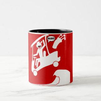Sand trap DUDE-2 Two-Tone Coffee Mug