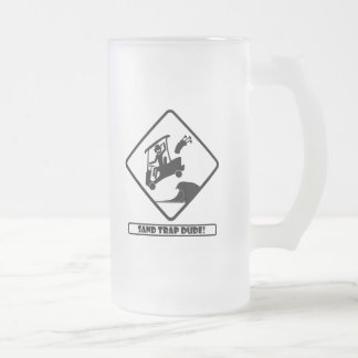 Sand trap DUDE-3 Frosted Glass Beer Mug