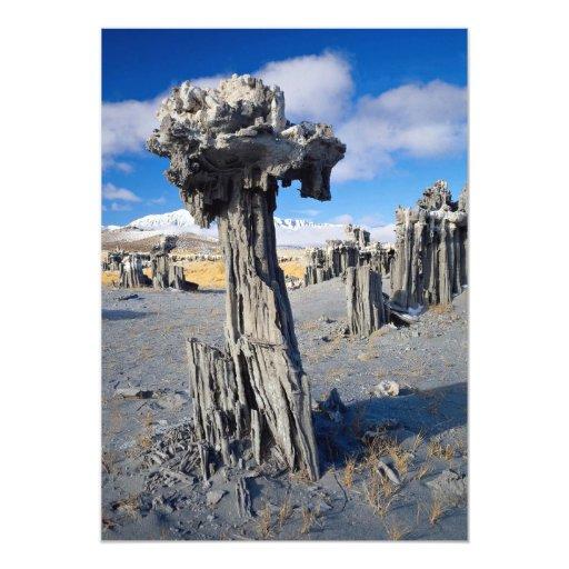 Sand tufa formations, Mono Lake, California, U.S.A Invites