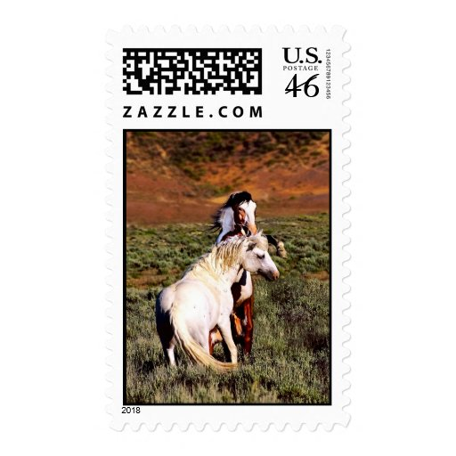 Sand Wash Basin Fighting Stallions Stamps