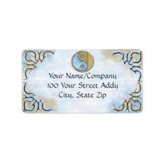 Sand & Water Yin Yang Address Label