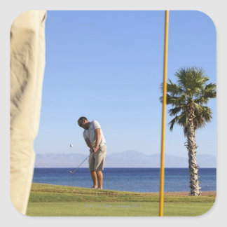 Sand wedge approach, square sticker