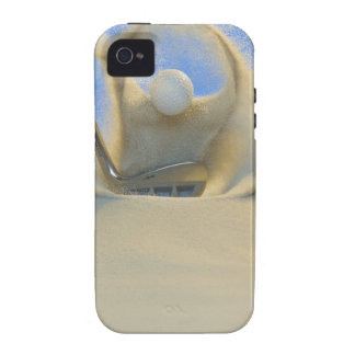 sand wedge hitting a golf ball out of a sand 2 iPhone 4 cover