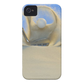 sand wedge hitting a golf ball out of a sand 2 iPhone 4 Case-Mate case