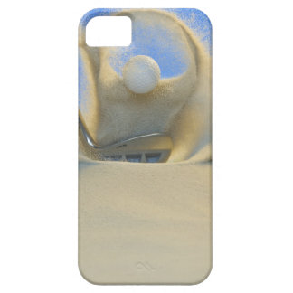 sand wedge hitting a golf ball out of a sand 2 iPhone SE/5/5s case