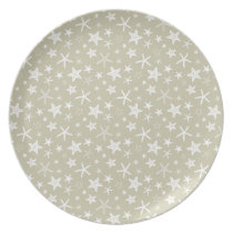 Sand White Starfish Dinner Plate