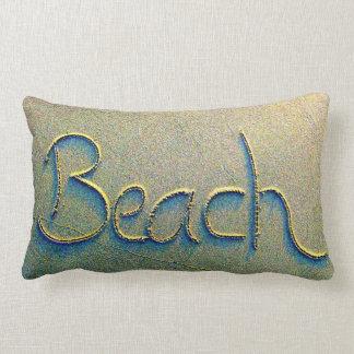Sand Writing Beach Lumbar Pillow