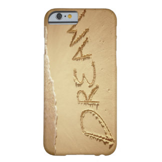 Sand writing 'Dream' with incoming surf at top Barely There iPhone 6 Case