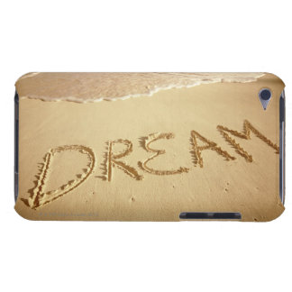 Sand writing 'Dream' with incoming surf at top Case-Mate iPod Touch Case