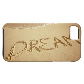 Sand writing 'Dream' with incoming surf at top iPhone SE/5/5s Case
