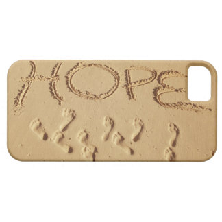 Sand writing ' Hope' on the beach with the iPhone SE/5/5s Case