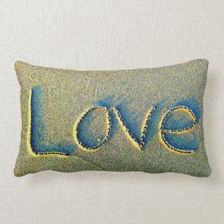 Sand Writing Love Pillow