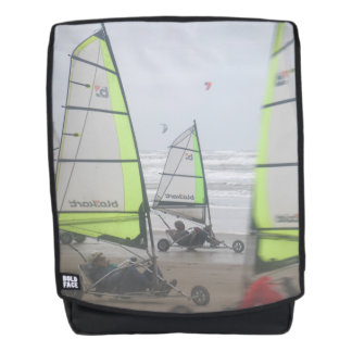 Sand Yachting Close Up Adult Backpack