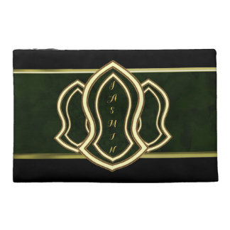 Sandal Of The Prophet (Green) Marble & Gold Travel Accessory Bag