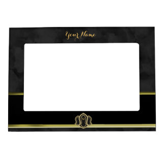 Sandal Of The Prophet (Grey) Marble & Gold Magnetic Photo Frame