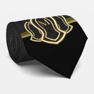 Sandal Of The Prophet (Grey) Marble & Gold Neck Tie
