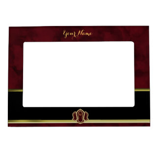Sandal Of The Prophet (Red) Marble & Gold Magnetic Picture Frame