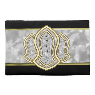 Sandal Of The Prophet (White) Marble & Gold Travel Accessories Bags
