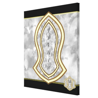Sandal Of The Prophet (White) Marble & Gold Canvas Print