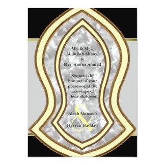 Sandal Of The Prophet (White) Marble & Gold Card