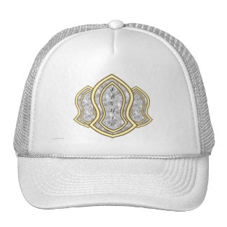 Sandal Of The Prophet (White) Marble & Gold Trucker Hat