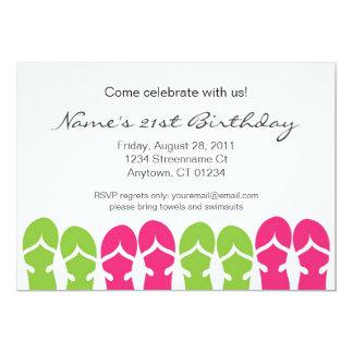 Sandal Soiree 5x7 Paper Invitation Card