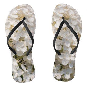 Beach Themed sandal, white flower flip flops