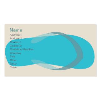 Sandalia azul - obra clásica plantillas de tarjeta de negocio