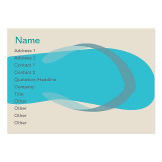 Sandalia azul - rechoncha plantillas de tarjetas de visita
