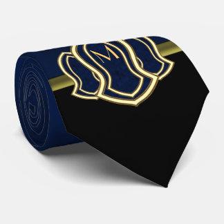 Sandalia del mármol y del oro (azules) del profeta corbata personalizada