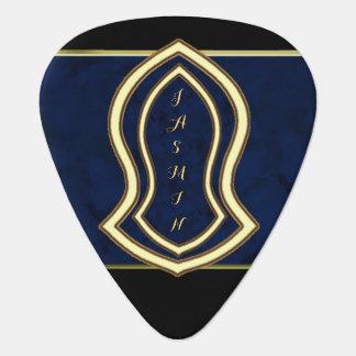Sandalia del mármol y del oro (azules) del profeta plectro