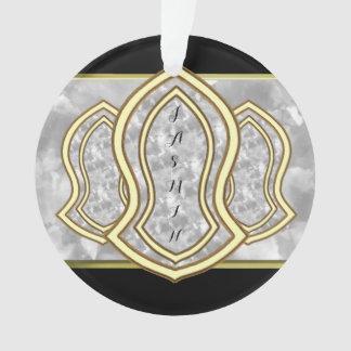 Sandalia del mármol y del oro (blancos) del