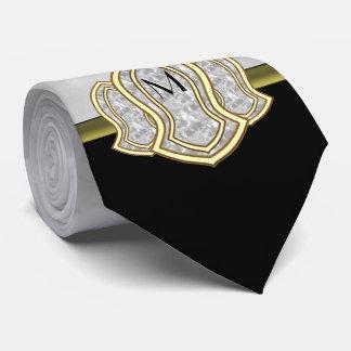Sandalia del mármol y del oro (blancos) del corbatas