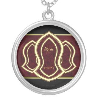 Sandalia del mármol y del oro (rojos) del profeta colgantes personalizados
