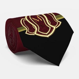Sandalia del mármol y del oro (rojos) del profeta corbatas personalizadas